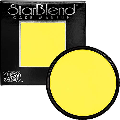 Mehron Makeup StarBlend Cake (2 ounce) (Yellow)