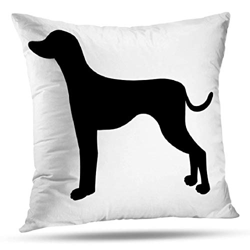 (ONELZ German Shorthaired Pointer Silhouette Square Decorative Throw Pillow Case, Fashion Style Zippered Cushion Pillow Cover (18X18 inch))