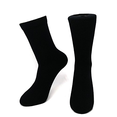 Mongolia Pure Cashmere Thick Women Woman Girls Socks(1 pairs) (Black)