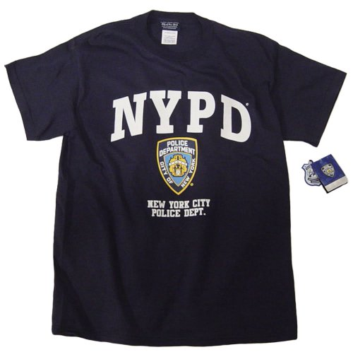 NYPD Shirt T-Shirt Navy Blue Clothing Apparel Officially Licensed Merchandise Medium