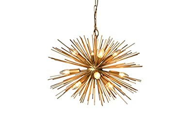 Y-Decor Y-Décor 12 Light Chandelier in Gold Finish