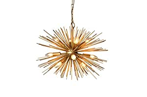 Y Decor LZ3349-12 Light Chandelier in Gold Finish