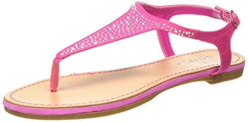 Tantra Sandals with beads - Sandalias para mujer Fucsia