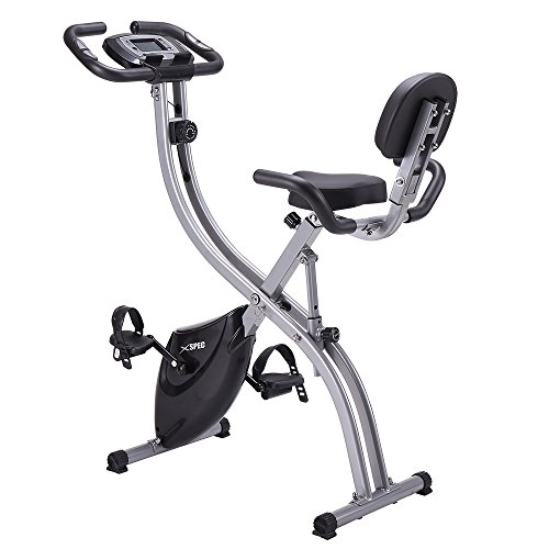 NEW Xspec Upgraded Dual Recumbent Upright Indoor Cycling Foldable Exercise Bike