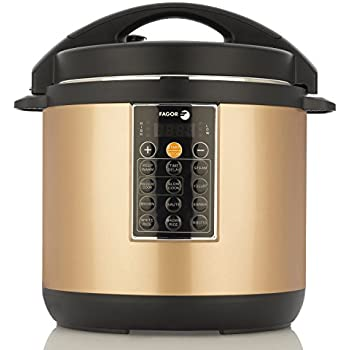 Fagor LUX Multi-Cooker, 8 quart, Electric Pressure Cooker, Slow Cooker, Rice Cooker, Yogurt Maker and more, Copper - 935010053
