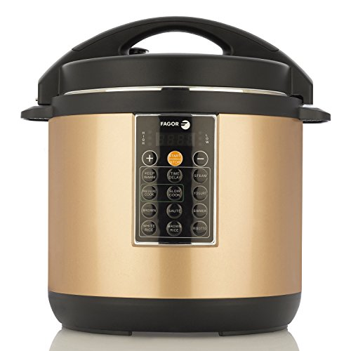Fagor LUX Multi-Cooker, 8 quart, Copper – Electric Pressure Cooker, Slow Cooker, Rice Cooker, Yogurt Maker and more (935010053)