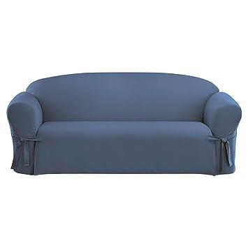 Amazon Com Surefit Cotton Duck Sofa Slipcover Bluestone