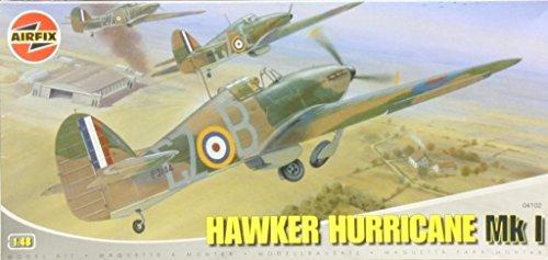 Airfix 1:48 Hawker Hurricane Mk.I Plastic Aircraft Model Kit #04102 -