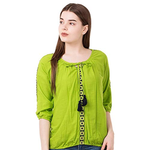 41Ja54hhbOL. SS500  - AANIA Beautiful Embroidered Exclusive Casual Cotton Women's Top