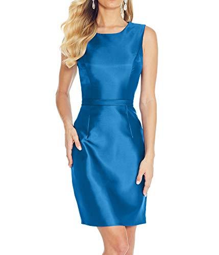 Braut Abendkleider Abschlussballkleider mia Mini Brautjungfernkleider La Blau Partykleider Satin 2018 Ballkleider Kurz 5w4CxXHq