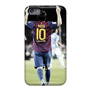 Shock-Absorbing Hard Phone Covers For Apple Iphone 6 Plus (ZTW15391XQRm) Unique Design Fashion Messi Image