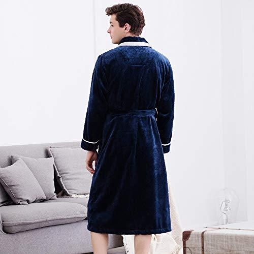 Spugna Dimensioni Blu Calda Bcl Vestaglia Bagno colore Uomo Da pigiama Velluto Accappatoi Blu Morbida In Xxl wqTwpA4