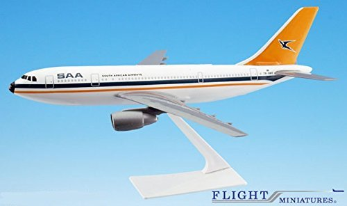 South African Airways A300B2 Airplane Miniature Model Plastic Snap-Fit 1:200 (200 South African Airlines)