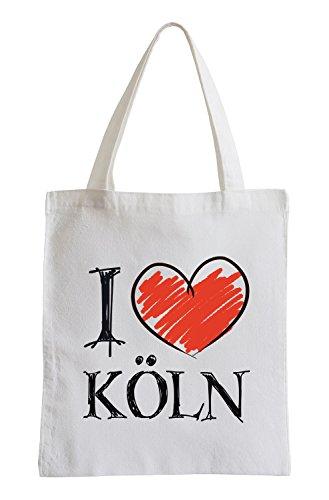 I love Köln Fun Jutebeutel