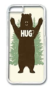 Apple Iphone 6 Case,WENJORS Cool Bear Hug I Hard Case Protective Shell Cell Phone Cover For Apple Iphone 6 (4.7 Inch) - PC Transparent