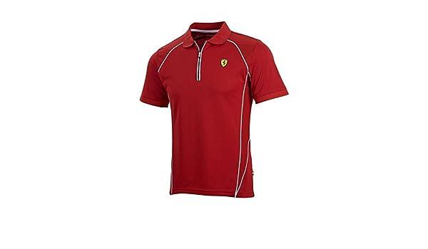 Ferrari rojo rendimiento Polo para hombre - 5100502, Rojo: Amazon ...