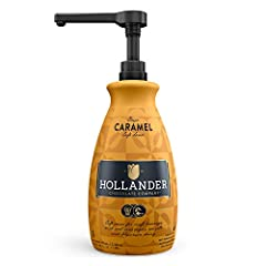 Classic Caramel Café Sauce by Hollander Chocolate Co. | For Caramel Lattes & Deserts | Perfect for the Professional or Home Barista - Net Wt. 91oz (64 fl Oz) Large Bottle (PUMP Included)