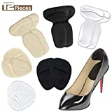 Heel Cushion Inserts and Metatarsal Pads, 3 Pairs High Heel Grips Pads and 3 Pairs Ball of Forefoot Cushions, Shoe Pads Insole, Blister Prevention and Foot Care Protectors for Women High Heel