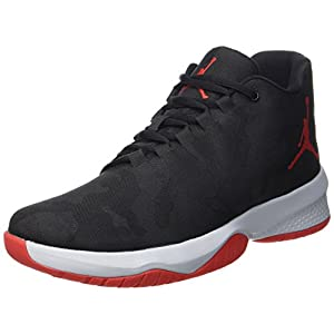 Men's Air Jordan B.Fly Basketball Shoes ,Black/University Red-wolf Grey,10.5 D(M) US