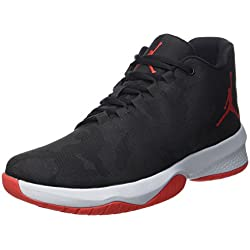 NIKE Men's Air Jordan B Fly Black/University Red-Wolf Grey 881444-006 Shoe 9.5 M US Men