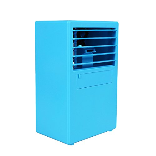 Walmeck Personal Mini Air Conditioner Fan Air Cooler Circulator Humidifier Refrigerating Machine Quiet Small Desktop Fan for Office, Dorm by Walmeck1