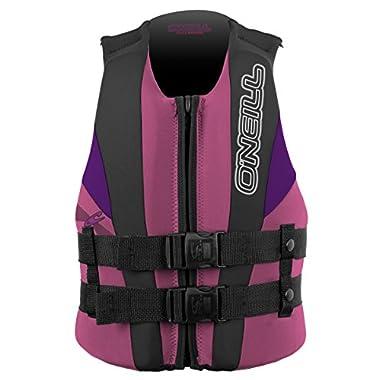 O'Neill Wetsuits Wake Waterski Child USCG Life Vest, Pet/Col/UV, 30-50-Pounds