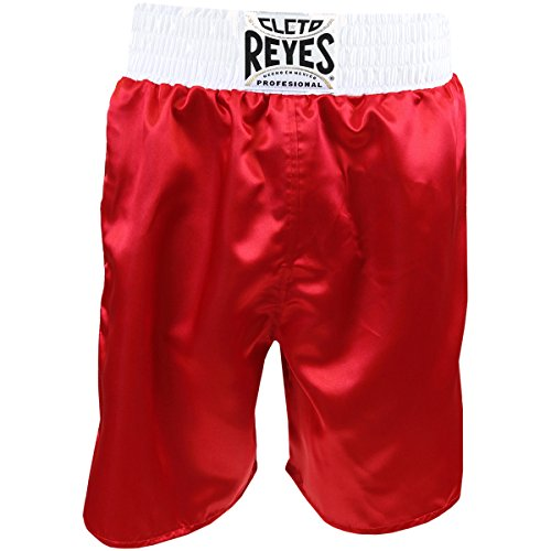 Cleto Reyes Satin Boxing Trunks, Red/White, X-Small