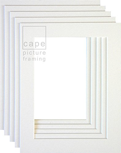 Pack of 10 Picture Mounts, A4 (Overall Size) With Equal 35mm Borders ...