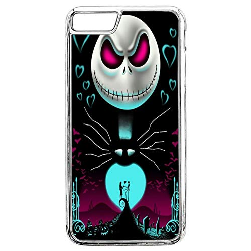 Phone Case for iPhone 7 Women Girl Slim Fit Protective Cover Halloween Slim Fit Shell Hard Plastic Phone Case for iPhone 7/8 - Transparent Border -