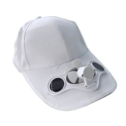 Blanc Mirx Sports de plein air solaire ventilateur Hat Vert respectueux de lenvironnement et Enti/èrement automatique /Énergie solaire en /électricit/é DE D/épart. frais