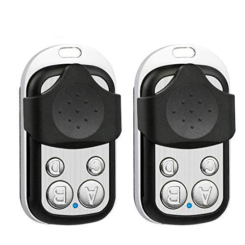 2 Pack - 433.92MHz Copy Remote Controller Metal Clone Remotes Auto Copy Duplicator for Gadgets Cars Motorcycles Home Garage Door (Garage Door Opener Remote Won T Program)