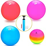 actearlier Play Ball For Kids - Set of 4 KickBalls With Pump Including A Rainbow Playground Ball and Three Beach Balls