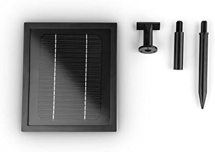 blumfeldt Volterra 2-Tier Outdoor Solar Powered Garden Fountain 3W Solar Panel Polyresin Grey