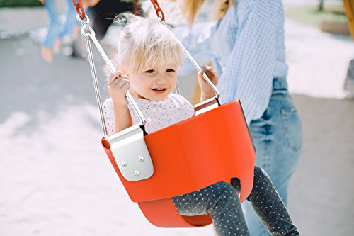 Toddler Swing Seat Bucket - Kids Tree Swing Set Accessories for Backyard- Outdoor Baby Infant Swing Chair - Heavy Duty Chain