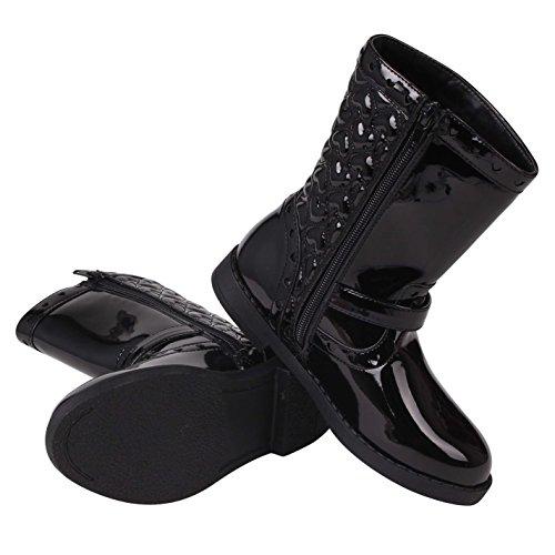 Miso Kinder Lily Boot Chd81 Flache Stiefeletten Schwarz