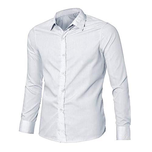 Fete Longue Pour Soirée Chemises Costume For Basic Top Pas Couleur Chemise  Slim Fit Business Unie Homme ... 5b2a8bc0b34