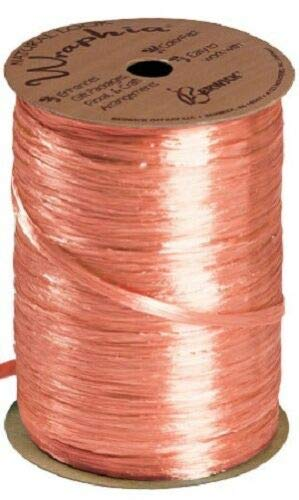 Orange Pearlized Raffia Ribbon Gift Wrap Wedding 1/2'' Wide 500 Yards Bow by retail-warehouse