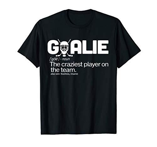 Goalie Definition Tshirt Hockey ()
