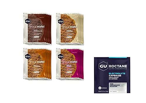GU Stroopwafel Mixed Box Waffle with GU Roctane Electrolytes 4 Capsule Trial