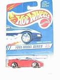 hot wheels 1995 camaro - 1995 #8 Camaro Convertible Red Malaysia Yellow Hot Wheels Logo 3 Spoke Wheels #344 Mint Hot Wheels