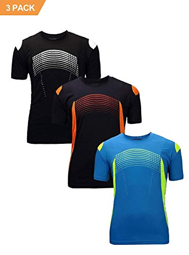 ZITY Men's Sport T-Shirts/Quick Dry Short Sleeves Tees Blue Navy Black XL - Mens Tech Tee