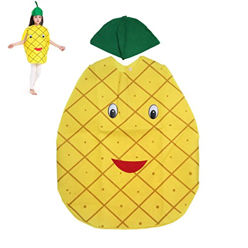 LUOEM Childrens Fruit Vegetables Costume Kids Pineapple Party Clothing Costumes for Halloween Cosplay Christmas Holiday Halloween Costumes