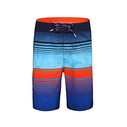 Boys Colorblock Swim Trunks - 7