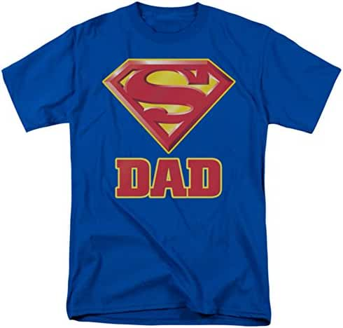 Super Dad Shield -- Superman Adult T-Shirt