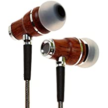 Symphonized NRG 2.0 Premium Genuine Wood In-ear Noise-isolating Headphones Earbuds Earphones with Innovative Shield Technology Cable and Mic (GunMetal)
