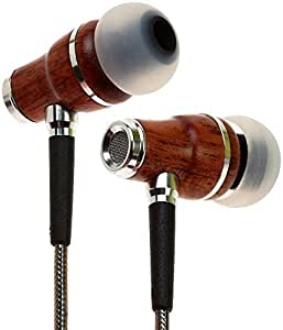 Symphonized NRG 2.0 Earbuds | Wood In-ear Noise-isolating Headphones | Earphones with Mic and Innovative Shield Technology Cable (Gunmetal)