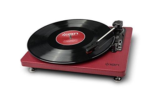 Ion-Audio-Compact-LP-Giradischi-a-3-Velocit-e-Convertitore-Vinili-Software-per-Mac-e-PC-e-Cavo-USB-Inclusi-Bourdeaux