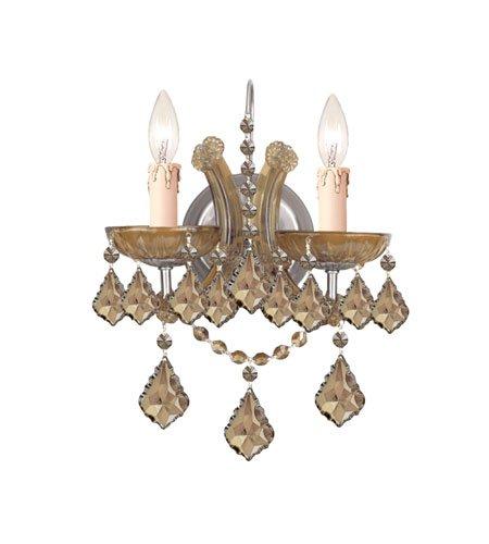 Crystorama 4472-AB-GT-MWP, Maria Theresa Crystal Wall Sconce Lighting, 2 Light, 120 Watts, - Gt Mwp Crystal Ab