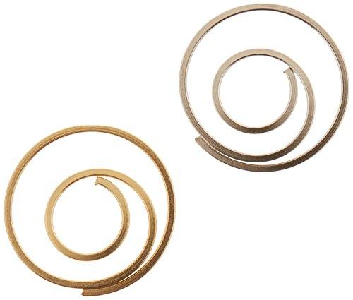 Spiral Paper Clip - Creative Impressions Metal Spiral Clips 25/Pkg, Gold & Silver 85001
