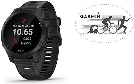 HRM Garmin Forerunner 945 GPS Running Watch Black Bundle with 6×4 Oval Car Magnet
